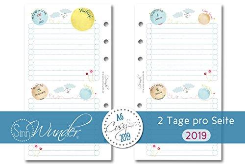 SinnWunder 2019 Premium-Kalendereinlage 2 Tage/1 Seite Personal DIN A6 CosySinn
