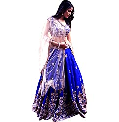 Shree Impex Taffeta silk Semi stitched Lehenga Choli with dupatta(wedding)