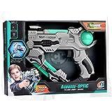 Funbee Baby Toys Gun-Blaster Gun Toy, Safe And Long Range-Toy Blaster Gun With Flash Light Music For Kids-lite Grey)