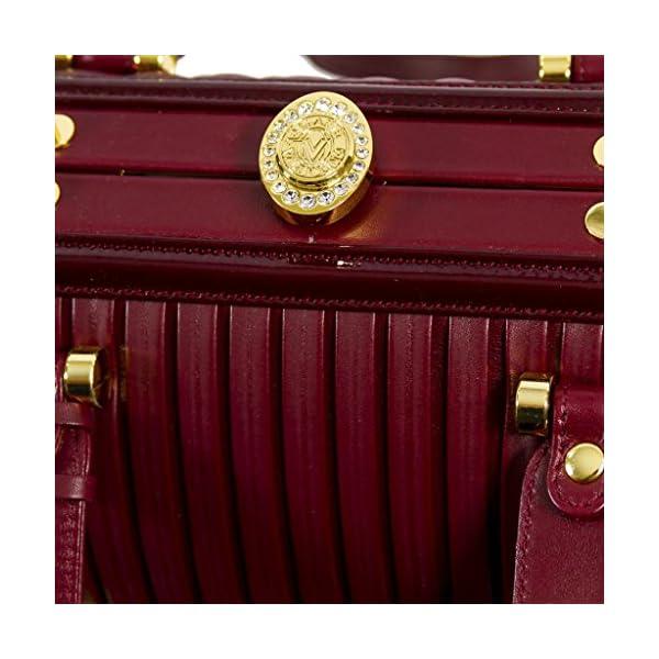 cfa7be1493ef Valentino Orlandi Italian Designer Jeweled Burgundy Plisse Textured ...