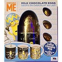 Despreciable Me huevos de chocolate con leche con taza de cambio de color 82g