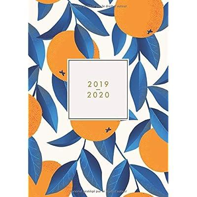 2019 - 2020: Agenda journalier 2019/20 - 18 mois - juillet 2019 à décembre 2020 - planificateur, semainier simple & graphique, motif orange