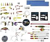 CRIVIT® Angelzubehör Raubfisch-Box für Forelle und Barsch, 144-teilig