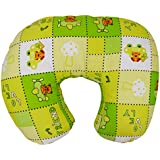 Baby Grow Nursing Pillow With Slipcover Cotton Feeding Pillow And Positioner With Baby Printed Slipcover Baby Feeding Pillow For Mother (Green Lovely)