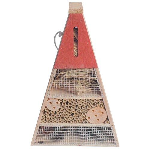 Florabest® Insektenhotel Insektenhaus Insekten Holz Bienenhotel Nistkasten Dreieck