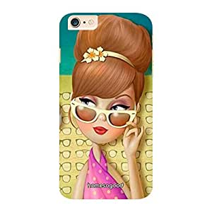 HomeSoGood Girlie Mistress Multicolor 3D Mobile Case For iPhone 6 Plus (Back Cover)