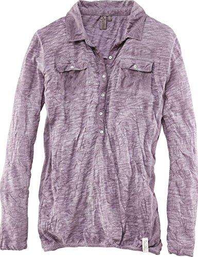 ROADSIGN australia Langarm Crashed Bluse Get up Mauve
