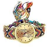 AITU Bracelet Bracelet d'amitié Fait Main pour Femme Cordon Multicouche Quartz Montre analogique Femmes Bracelet jonc Bijoux, d