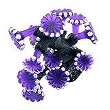 Greenlans Adorno de resina de coral para acuario, diseño de paisaje artificial, color morado