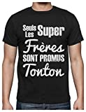 Les Super frères sont promus Tonton pour Naissance T-Shirt Homme Large Noir