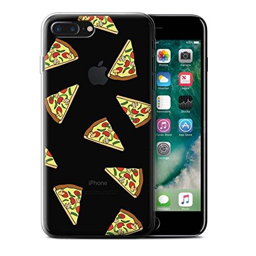 Coque Gel TPU de STUFF4 / Coque pour Apple iPhone 7 Plus / Pizza Design / Morceaux Nourriture Collection Pizza