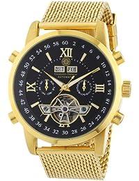 Constantin Durmont - Reloj analógico para caballero de acero inoxidable recubierto negro