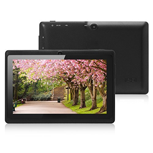JYJ 7″ Zoll Android Google Tablet PC 8GB 4.2.2 WiFi Dual Core Dual Camera Capacitive Touch Screen Allwinner A23 DDR3 1.5GHz 512MB (Schwarz)