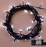 Luci natalizie per interni e esterno 500 LED 2 in 1 bianco caldo e bianco luminoso albero luci di Natale funzione di memoria, alimentazione luci fata 50m illuminato lunghezza-Cavo Verde