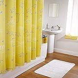 ZfgG Duschvorhang Gelb Wasserdicht Quick Dry Verdickt Mehltau 100% Polyester (größe : 240x200cm(94x79inch))