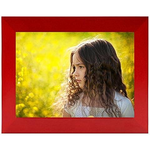 Bojin marco de fotos pared madera sin borde, beaucoup de medidas y colores, gancho de pared INCLUIDO, rojo, 23x28 CM