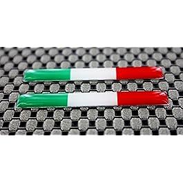 Adesivi 3D, per decalcomania, con bandiera italiana, misura piccola, cromati, bombati