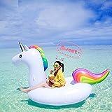 Missley Großes aufblasbares Einhorn Floating- Floatie Ride On Rideable Blow Up Sommer Spaß Pool Spielzeug Liege Floati
