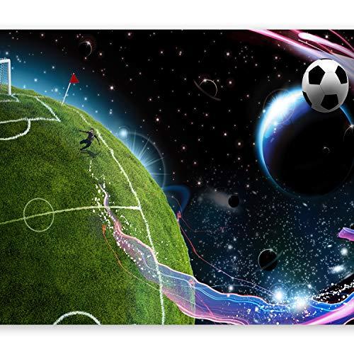 murando – Papier peint intissé – 350x256 cm – Trompe l oeil - Tableaux muraux – Déco – XXL Football enfants 10110902-3