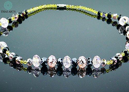 """Halskette """"Ko Ta Lu"""", Kette für Frauen (Korallenkette aus Handarbeit), exklusiver Schmuck mit Perlen für Frauen mit Stil. Handgefertigte Perlenkette aus Thailand"""