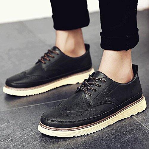 Feifei Hommes Hiver Mode Décontracté Chaussures Rétro Cuir Chaussures 3 Couleurs (couleur: 01, Dimensions: Eu43 / Uk9 / Cn44) 02