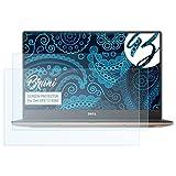 Bruni Schutzfolie für Dell XPS 13 9360 Folie, glasklare Bildschirmschutzfolie (2X)