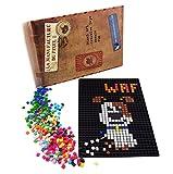La Manufacture du Pixel – Pixel Handwerkskunst, Kreatives Hobby, Mosaik, Spaß! – Erstellen Sie Ihre Eigene Kunst – Zink Sammlung – Rahmen und 900 Pixel Set (Schwarz)