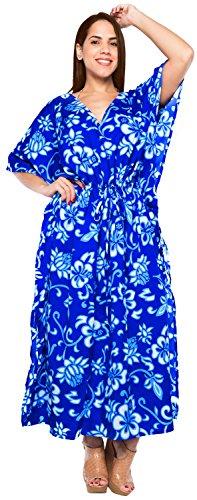costume da bagno abito abito abito lungo caftano donne beachwear kimono coprire costumi da bagno Blu