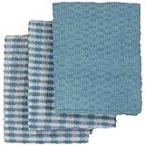 Linens Limited Frottee-Geschirrtücher - Baumwolle - Blau/Weiß - 3 Stück