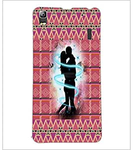 PrintDhaba Love D-6007 Back Case Cover for LENOVO A7000 (Multi-Coloured)