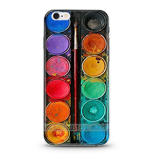 Casetic | iPhone 5, 5S Schutzhülle Tuschkasten Bunt TPU Hülle Cover Handyhülle Bumper Handytasche Hülle mit Foto Silikon C