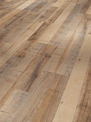 Parador Klick Laminat Bodenbelag Basic 400 Kastanie Vintage Braun Schiffsboden 2-Stab Seidenmatte Struktur 2,493m² hochwertige Holzoptik braun/grau, 8 mm, einfache Verlegung -
