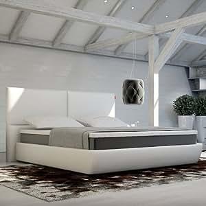 Innocent Box Spring lit blanc en similicuir Lanvin B 160 x L 200 cm