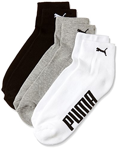 Puma Men's Socks (IN91009601_White, Black and Grey_one size)