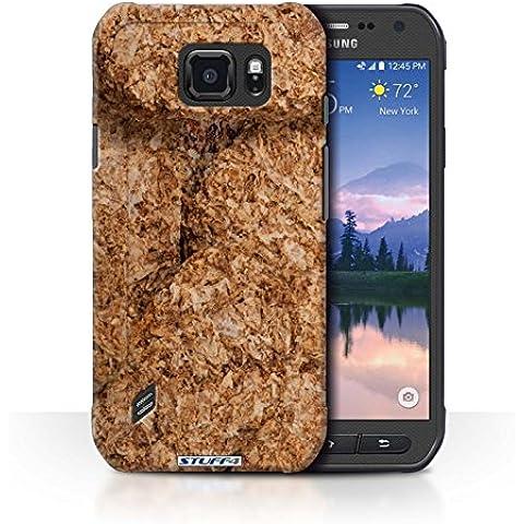Custodia/Cover Rigide/Prottetiva STUFF4 stampata con il disegno Cereali Colazione per Samsung Galaxy S6 Active/G890 - Weetabix