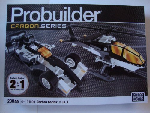 Mega Bloks Probuilder Carbon Series 2 in 1 Copter Race Car 34000 - 34000 Serie