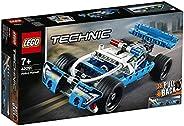 LEGO 42091 Technic Polizei-Verfolgungsjagd, Spielzeugauto mit Rückziehmotor, Bauset für Jungen und Mädchen ab