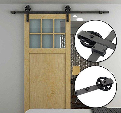 homcom-modern-sliding-barn-door-closet-hardware-track-kit-track-system-unit-for-single-wooden-door-6
