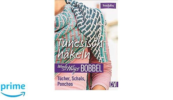 Woolly Hugs Bobbel Tunesisch Häkeln Tücher Schals Ponchos Mit