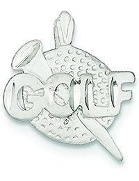 Sterling Silber Golf Ball Charme