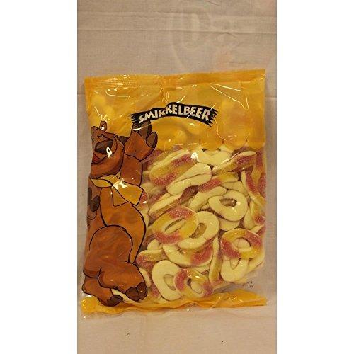 Smikkelbeer Fruchtgummi Perzik Ringen 1000g Beutel (Pfirsich-Ringe)