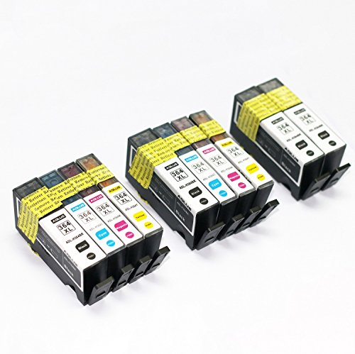 ADLUS 10 XL Ersatz für HP 364 XL Druckerpatronen (4 BK,2 C,2 M,2 Y)Hohe Kapazität Kompatibel mit HP OfficeJet 4620 4622,HP Photosmart 6520 5510 7510 5524 6510 5515 5520 C5380,HP Deskjet 3070A 3520