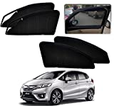 #8: Auto Pearl - Premium Quality Zipper Magnetic Sun Shades Car Curtain For - Honda New Jazz - Set of 4 Pcs