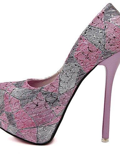 WSS 2016 Chaussures Femme-Habillé / Soirée & Evénement-Bleu / Rose-Talon Aiguille-Confort / Bout Arrondi-Chaussures à Talons-Polyuréthane blue-us8 / eu39 / uk6 / cn39