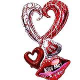 NUOLUX Los globos de la hoja del corazón del amor 4pcs fijaron para la decoración del banquete de boda del contrato del día de Valentin