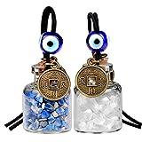 Lucky Münzen magic Kleine Auto Charms oder Home Decor Gem Flaschen Quarz und Lapis Lazuli Schutz Amulett