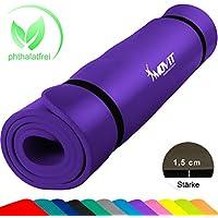 Movit® - Esterilla para Pilates - Sin ftalatos - Homologada por la SGS - Largo 190 cm x 100cm - Grosor 1,5 cm -púrpura