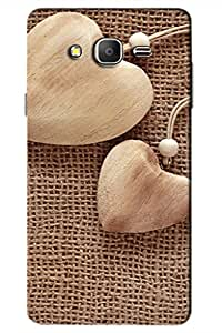 SRS Wood Texture Love 3D Back Cover for Samsung Galaxy On7