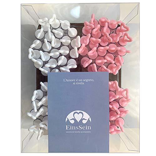 EinsSein 96x Seifenblasen Hochzeit Herzgläschen Box Weiss-rosa Wedding Bubbles gefüllt Vintage hochzeitsdeko Herz gastgeschenk tischdeko hochzeitsseifenblasen Candy bar luftblasen deko Flüssigkeit Vintage Tube Top