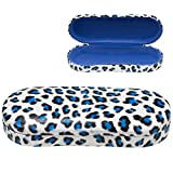 Best Eyeglass Cases - Hard Clamshell Eyeglass Case, Leopard Print Protective Glasses Review